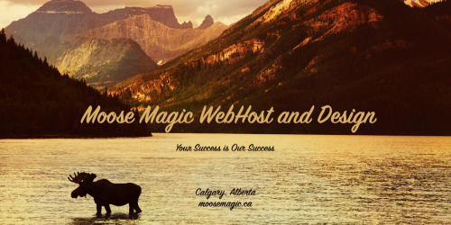 Moose Magic WebHost and Design